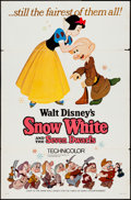 """Movie Posters:Animation, Snow White and the Seven Dwarfs (Buena Vista, R-1967). One Sheet (27"""" X 41"""") Style A. Animation.. ..."""