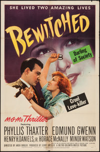 """Bewitched (MGM, 1945). One Sheet (27"""" X 41""""). Film Noir"""