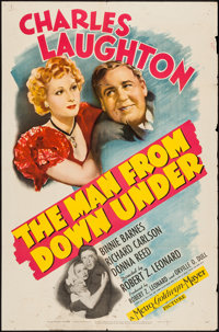 """The Man from Down Under (MGM, 1943). One Sheet (27"""" X 41""""). Drama"""