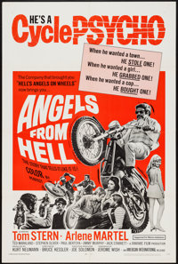 "Angels from Hell (American International, 1968). One Sheet (27"" X 41""). Exploitation"