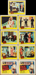 """Movie Posters:Crime, Vice Raid (United Artists, 1960). Title Lobby Card & Lobby CardSet of 8 (11"""" X 14""""). Crime.. ... (Total: 9 Items)"""
