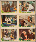 "Movie Posters:Mystery, Green Eyes (Chesterfield, 1934). Lobby Cards (6) (11"" X 14"").Mystery.. ... (Total: 6 Items)"