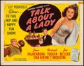 "Movie Posters:Musical, Talk About a Lady (Columbia, 1946). Half Sheet (22"" X 28""). Musical.. ..."