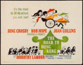 """Movie Posters:Comedy, The Road to Hong Kong (United Artists, 1962). Half Sheet (22"""" X 28""""). Comedy.. ..."""