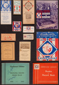 Baseball Collectibles:Others, 1939 Baseball Centennial Memorabilia Lot of 11....