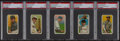Baseball Cards:Lots, 1909-11 T206 Old Mill Cigarettes Graded PSA VG 3 Group (5). ...