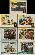 "Movie Posters:War, The Enemy Below & Others Lot (20th Century Fox, 1957). LobbyCards (7) & Lobby Card Set of 8 (11"" X 14""). War.. ... (Total:15 Items)"