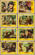 """Movie Posters:War, Men in War and Others Lot (United Artists, 1957). Lobby Cards (16) (11"""" X 14""""). War.. ... (Total: 16 Items)"""