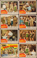 "Movie Posters:Adventure, Queen of the Amazons (Screen Guild Productions, 1947). Lobby CardSet of 8, Title Lobby Cards (2) & Lobby Cards (4) (11"" X 1...(Total: 14 Items)"