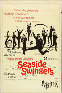 """Seaside Swingers & Other Lot (Embassy, 1965). Posters (2) (40"""" X 60"""") Regular & Style Z. Rock and Roll..."""