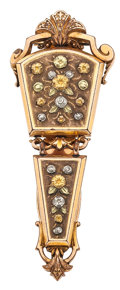 Estate Jewelry:Chatelaines, Multi-Color Gold-Filled Chatelaine. ...
