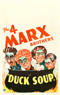 "Movie Posters:Comedy, Duck Soup (Paramount, 1933). Window Card (14"" X 22"").. ..."