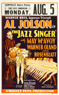 "Movie Posters:Musical, The Jazz Singer (Warner Brothers, 1927). Window Card (14"" X 22.5"") and (3) Photos (8"" X 10"").. ... (Total: 4 Items)"