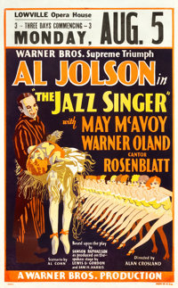 "The Jazz Singer (Warner Brothers, 1927). Window Card (14"" X 22.5"") and (3) Photos (8"" X 10""). ... (T..."