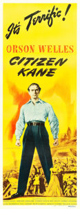 "Movie Posters:Drama, Citizen Kane (RKO, 1941). Insert (14"" X 36"").. ..."