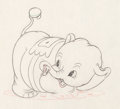 Animation Art:Production Drawing, Mickey's Elephant Mickey Mouse and Bobo the ElephantProduction Drawing Animation Art Group (Walt Disney, 1936)....(Total: 2 Original Art)