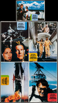 "Movie Posters:James Bond, Moonraker (United Artists, 1979). Uncut German Lobby Card Sheet of4 (23.25"" X 33"") & German Lobby Card (8.25"" X 11.75""). Ja...(Total: 2 Items)"