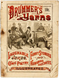 "Books:Americana & American History, [Americana]. Drummer's Yarns; or, Fun on the ""Road."" NewYork: Excelsior, 1886. First edition. Original printed wrap..."