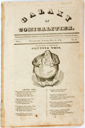 Books:Americana & American History, [Humor Periodical]. Galaxy of Comicalities, Vol. 1, No. 13.Lesher & Shelley, 1833. Disbound. [8] pages. Tape re...