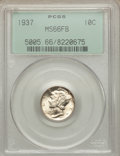 Mercury Dimes, 1937 10C MS66 Full Bands PCGS,1939-D 10C MS66 Full Bands NGC,1942-D10C MS66 Full Bands NGC,1943-D 10C MS66 Full Bands NGC... (Total: 4coins)