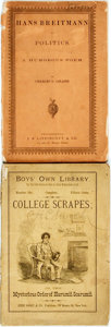 Books:Americana & American History, [Periodical]. College Scrapes; or, The Mysterious Order ofHarumii Scarumii. Boys' Own Library, Number six. Orig...