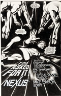 Original Comic Art:Splash Pages, Steve Rude Nexus #15 Page 1 Splash Page Original Art (First,1985)....