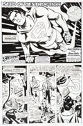 Original Comic Art:Splash Pages, Steve Rude Adventures of Superman Chapter 51 Page 1 SplashPage Original Art (DC, 2014)....