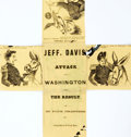 Books:Americana & American History, [Americana]. Jeff Davis' Attack on Washington, and The Result. In Four Chapters. Single piece of paper with dotted g...
