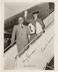 Autographs:U.S. Presidents, Harry and Bess Truman Christmas Photograph Signed....