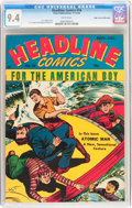 Golden Age (1938-1955):Superhero, Headline Comics #16 Mile High pedigree (Prize, 1945) CGC NM 9.4 White pages....