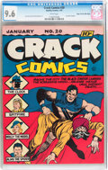 Golden Age (1938-1955):Adventure, Crack Comics #20 Mile High pedigree (Quality, 1942) CGC NM+ 9.6 White pages....