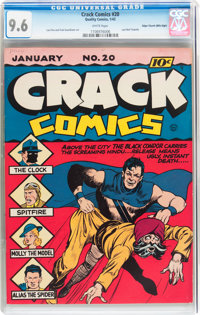Crack Comics #20 Mile High pedigree (Quality, 1942) CGC NM+ 9.6 White pages