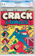 Golden Age (1938-1955):Superhero, Crack Comics #13 Mile High pedigree (Quality, 1941) CGC NM 9.4 White pages....