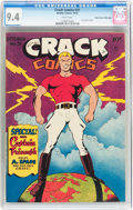 Golden Age (1938-1955):Superhero, Crack Comics #31 Mile High pedigree (Quality, 1943) CGC NM 9.4 White pages....