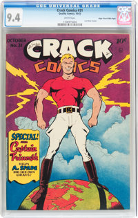Crack Comics #31 Mile High pedigree (Quality, 1943) CGC NM 9.4 White pages