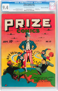 Golden Age (1938-1955):Superhero, Prize Comics #23 Mile High pedigree (Prize, 1942) CGC NM 9.4 Off-white to white pages....