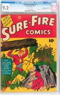 Golden Age (1938-1955):Superhero, Sure-Fire Comics #1 Mile High pedigree (Ace, 1940) CGC NM- 9.2 Off-white pages....