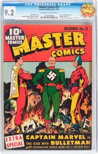 Master Comics #21 (Fawcett Publications, 1941) CGC NM- 9.2 Off-white to white pages