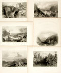 Books:Prints & Leaves, Nathaniel Parker Willis. Six Plates from American Scenery; or,Land, Lake, and River. From drawings by W.H. Bartlett...