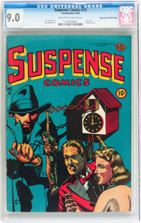 Suspense Comics #12 Mile High pedigree (Continental Magazines, 1946) CGC VF/NM 9.0 Off-white to white pages