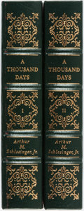 Books:Americana & American History, Arthur Schlesinger. A Thousand Days. Norwalk; Easton Press, [1992]. Collector's edition. Complete in two... (Total: 2 Items)