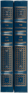 Books:Literature 1900-up, Ayn Rand. The Fountainhead. Norwalk; Easton Press, [1989].Complete in two octavo volumes. Publisher's full leather ...(Total: 2 Items)