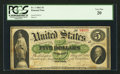 Large Size:Demand Notes, Fr. 1 $5 1861 Demand Note PCGS Very Fine 20.. ...