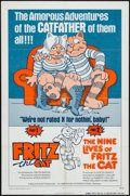 """Movie Posters:Animation, Fritz the Cat/The Nine Lives of Fritz the Cat Combo (American International, R-1975). One Sheet (27"""" X 41""""). Animation.. ..."""