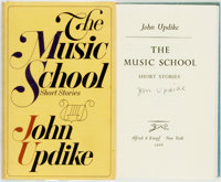 John Updike. SIGNED. The Music School. New York: Knopf, 1966. First edition. Signed by the a