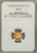 Mexico, Mexico: Republic gold 1/2 Escudo 1825/4 Mo-JM MS62 NGC,...