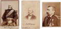 Photography:Cabinet Photos, [Civil War Generals]. Group of Three Cabinet Cards... (Total: 3Items)