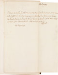 Autographs:Non-American, Gilbert du Motier, Marquis de Lafayette Autograph Letter Signed andBound into Recollections of the Private Life of Gene...