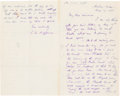 Autographs:Authors, Thomas W. Higginson Autograph Letter Signed...