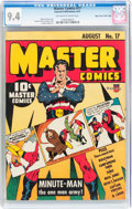 Golden Age (1938-1955):Superhero, Master Comics #17 Mile High pedigree (Fawcett Publications, 1941) CGC NM 9.4 Off-white to white pages....